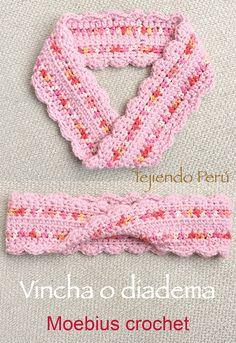 Crochet moebius! Video del paso a paso para tejer la técnica básica e incluye instrucciones para hacer una vincha o diadema o un lindo cuello o bufanda corta infinita!