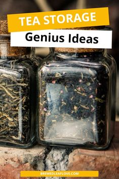 DIY tea storage ideas for organizing all your loose leaf tea and tea bags using baskets from ikea, the dollar store and jars. Great container ideas for small spaces, pantry and more. Tea Organization, Organizing Ideas, Hot Tea Recipes, Tea Bag Storage, Tea Container, Tea Station, Tea Gifts, Tea Box, Tea Benefits