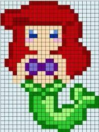 Ariel hama beads plantilla
