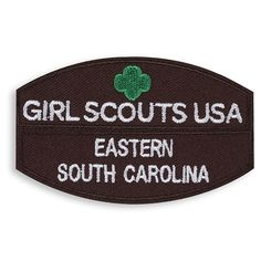 BROWNIE GIRL SCOUT COUNCIL IDENTIFICATION STRIP SET $5.50 #47514 The council identification set includes your council name and Official Girl Scouts of the USA identification strip. The two are worn together on the front of the Official Brownie Girl Scout Vest or Sash. The strips are Iron-on for easy use.