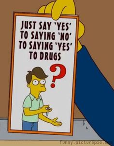 22 best the simpsons images on pinterest the simpsons board and lionel hutzs business card see more say no to drugs colourmoves