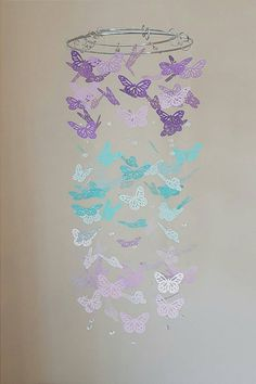 Baby Girl Butterfly Bedroom Ideas inital and butterflies wall decals, butterfly nursery wall decals
