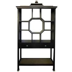 Modern Version Dorothy Draper Style Chinoiserie Curio Cabinet