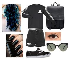 """""""American beauty / American psycho"""" by nono-viana on Polyvore featuring Topshop, Vans and Forever 21"""