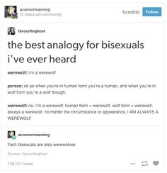 Fact: Bisexuals are Werewolves| 34 Times Tumblr Taught You Everything You Need To Know About Bisexuality