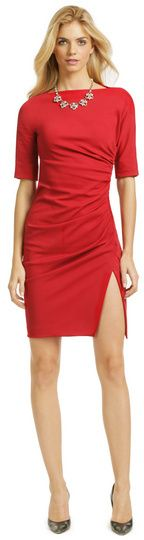 Moschino red Found Guilty Dress - red cocktail dress