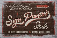 Sign Painter's Studio by Vintage Design Co.
