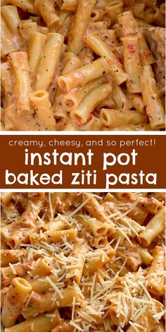 "Perfect Instant Pot Baked Ziti Instant Pot Recipe Pressure Cooker Baked Ziti Baked Ziti is a family favorite dinner that's made even easier when you ""bake"" it in an Instant Pot! 15 minutes start to finish and only a few simple ingredients. Instant Pot Pasta Recipe, Best Instant Pot Recipe, Instant Pot Dinner Recipes, Easy Pasta Dinner Recipes, Simple Recipes For Dinner, Family Dinner Ideas, Gourmet Dinner Recipes, Recipe Pasta, Ziti Al Horno"