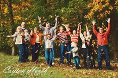 Large family photo shoot with awesome fall colors  www.caytonheath.com  #caytonheath  #familyphotography  #fall  #fallcolors  #largefamily