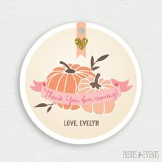 Printable Favor Tag  Our Little Pumpkin  pink by PrintsForEvents, $8.00