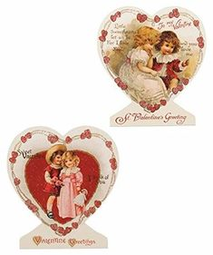 Vintage Valentine images decoupaged on heart shaped boards with stands. Vintage image decoupaged on MDF with glitter accents. x Bethany Lowe Valentine Collection. Little Valentine, Valentines Day Hearts, Valentines For Kids, Vintage Valentines, Valentine Gifts, Diy Valentine's Ornaments, Holiday Ornaments, Valentine Images, Bethany Lowe