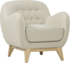 Discover BALTHASAR Sofas 2 seat sofa Beige Fabric at Habitat, a manufacturer of furniture and design objects, useful and accessible, since Beige Sofa, Home Salon, Fabric Sofa, Habitats, Home Goods, Armchair, Sweet Home, Interior, House