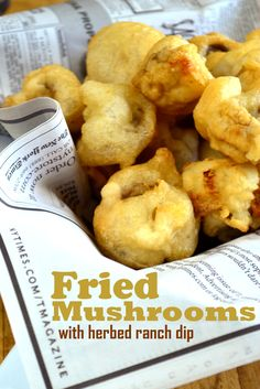 Fried Mushrooms. Yes. So much YES.