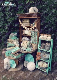 www.kamalion.com.mx - Mesa de Dulces / Candy Bar / Postres / Bautizo / Gris…