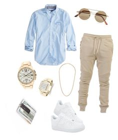 """Hubby "" by jaylinehilson on Polyvore featuring American Eagle Outfitters, NIKE, Cartier, Balmain, Topman, Royce Leather, men's fashion and menswear"