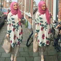 really like this hijab outfit Hijab Casual, Hijab Outfit, Women's Casual, Hijab Fashion 2016, Modest Fashion, Girl Fashion, Fashion Dresses, Fashion Muslimah, Abaya Fashion