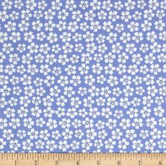 Morocco Blues Stretch Poplin Floral Sky Blue from @fabricdotcom  This very lightweight cotton poplin fabric has an ultra smooth hand and 10% stretch across the grain. It is perfect for shirts, dresses, skirts, blouses and more. Colors include navy, white and sky blue.