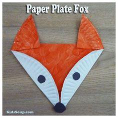 Paper plate fox craft / KidsSoup Make Grey u2026 & 20+ Paper Plate Animal Crafts for Kids | Pinterest | Paper plate ...