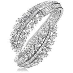 Harry Winston | Products | Jewels | Bracelets | Feather Bracelet found on Polyvore