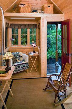 A tumbleweed interior