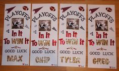 locker signs for football players or cheer team for meets