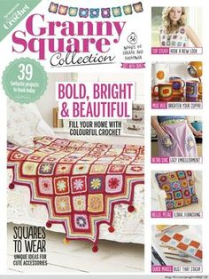 132 pages-enjoy Simply Crochet-Granny Square Collection 2016 Granny Square Projects, Granny Square Bag, Granny Square Crochet Pattern, Crochet Squares, Crochet Granny, Granny Squares, Crochet Quilt, Crochet Blocks, Crochet Chart