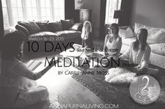 Ten Days to a Simple & Sincere Meditation Practice by Carrie-Anne Moss via AnnapurnaLiving.com #AnnapurnaLiving #CarrieAnneMoss #Meditation