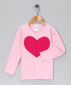 Loving this Pink & Raspberry Heart Tee - Infant, Toddler & Girls on #zulily! #zulilyfinds
