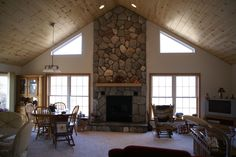 True Vault Ranch with knotty pine ceiling!