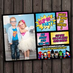 Hey, I found this really awesome Etsy listing at https://www.etsy.com/listing/236445003/superhero-invitation-double-birthday