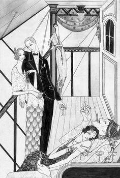 Kate Baylay Illustration  -  The Folio Society's Vile Bodies by Evelyn Waugh