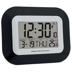 #Radio controlled #digital #calendar clock,  View more on the LINK: http://www.zeppy.io/product/gb/2/182090699570/