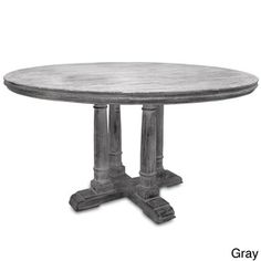 @Overstock.com.com -  Victoria Reclaimed Wood Round Dining Table - This Victoria round table offers a timeless design and is made with premium North American reclaimed wood. The finish applied is an antique white or grey multilayer patina that lets the beauty and natural color of the wood be shown.  http://www.overstock.com/Home-Garden/Victoria-Reclaimed-Wood-Round-Dining-Table/8379848/product.html?CID=214117 $1,349.99