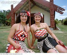 Maori Women Dressed in Traditional Maori Costume, Rotorua, North Island, New Zealand