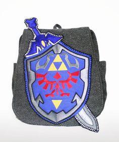 Zelda Inspired Backpack - Geeky U. $89.99, via Etsy.