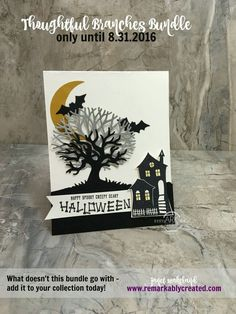 Janet Wakeland Thoughtful Branches, Halloween Scenes