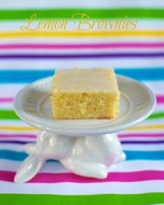 Lemon Brownies - dangerously good!
