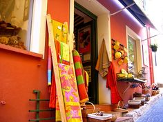 Colorful shop in Fayence, Var