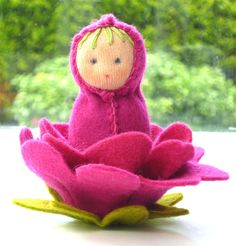 """Finished doll size: 12cm/4"""" These charming little dolls will capture your heart! Each doll kit contains enough jersey, felt, wool and thread to complete your ow"""
