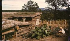 1940's in color - A homesteader's home in New Mexico, 1940