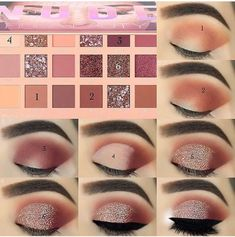 43 Eyeshadow Tutorials For Perfect Makeup – So Easy Even Beginners Can Learn Augen Makeup, , 43 Eyeshadow Tutorials For Perfect Makeup – So Easy Even Beginners Can Learn Augen Make-up Tutorial; Augen Make-up für braune Augen; Augen Make-up nat. Eye Makeup Steps, Natural Eye Makeup, Makeup For Brown Eyes, Easy Eye Makeup, Make Up Brown Eyes, Sparkly Eye Makeup, Natural Eyeliner, Pretty Eye Makeup, Sleek Makeup