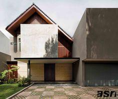 Trendy House Front Modern Design Dream Homes Ideas Modern Tropical House, Tropical Houses, Modern House Design, Tropical Architecture, Facade Architecture, Contemporary Architecture, New Home Designs, Home Design Plans, Facade Design
