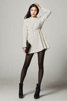 Dot Sleeve Mini Dress