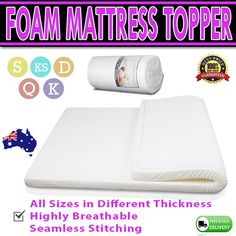 A memory foam mattress topper is made to allow even distribution of weight and to automatically reduce pressure for different parts of the body while you sleep. Visco Elastic Memory Foam Mattress Topper. | eBay!