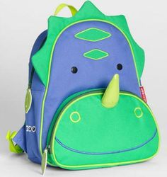 Adorable Dino Backpack for #BackToSchool. See our fave gift picks for the first day of school on: http://blog.gifts.com/whos-it-for/gifts-for-kids-2/gifts-for-the-first-day-of-school