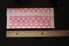 Pink Polka dot Duct Tape Clutch Wallet by sisterscraftcorner, $12.00