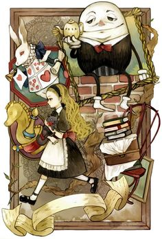 Alice in wonderland Lewis Carroll, Alice In Wonderland Illustrations, Inspiration Artistique, Chesire Cat, Alice Madness, Humpty Dumpty, Were All Mad Here, Adventures In Wonderland, Through The Looking Glass