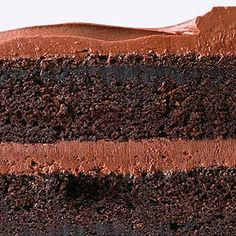 Chocolate Sour Cream Cake with Fudgy Frosting: Better Homes & Garden Recipe