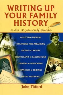 how to write a family history book