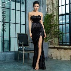 e90dbf4f3ff Love   Lemonade черный бюстгальтер с открытой спиной Плиссированные Блестки  тонкое платье вечернее длинное платье LM81335BLACK